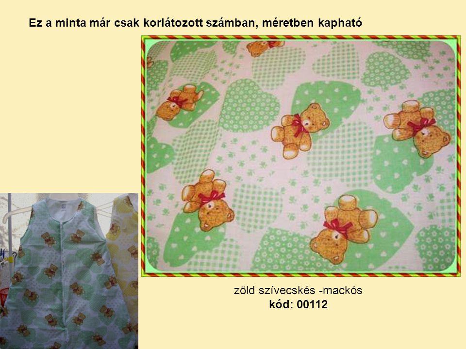 zöld szívecskés -mackós