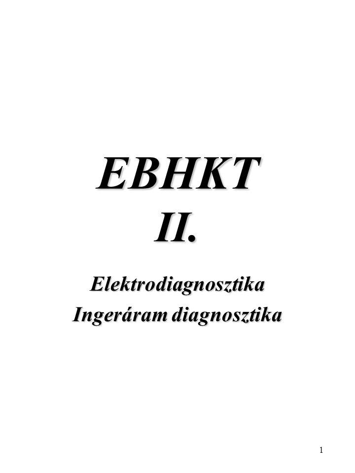 Elektrodiagnosztika Ingeráram diagnosztika