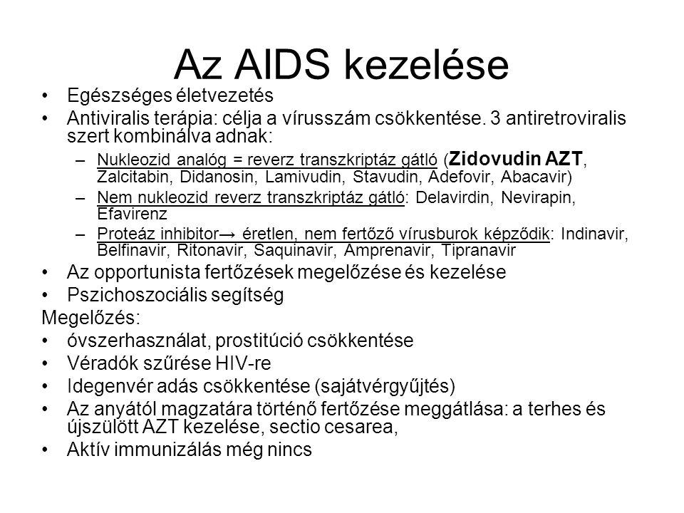 Az AIDS kezelése Egészséges életvezetés