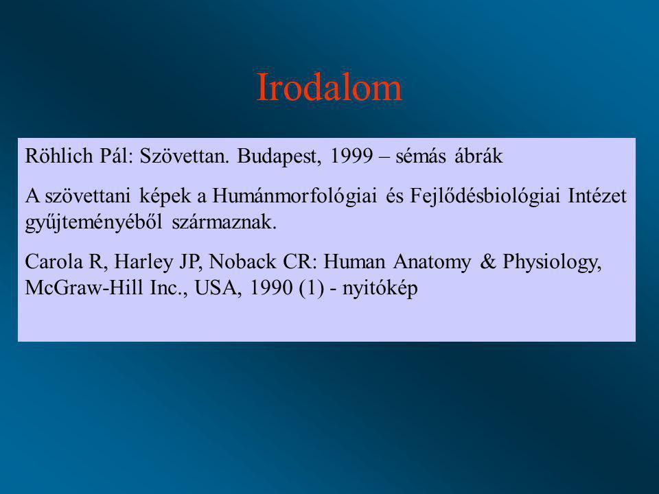 Irodalom Röhlich Pál: Szövettan. Budapest, 1999 – sémás ábrák