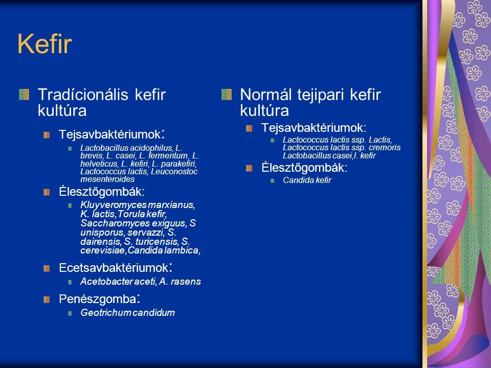 Kefir Tradícionális kefir kultúra Normál tejipari kefir kultúra