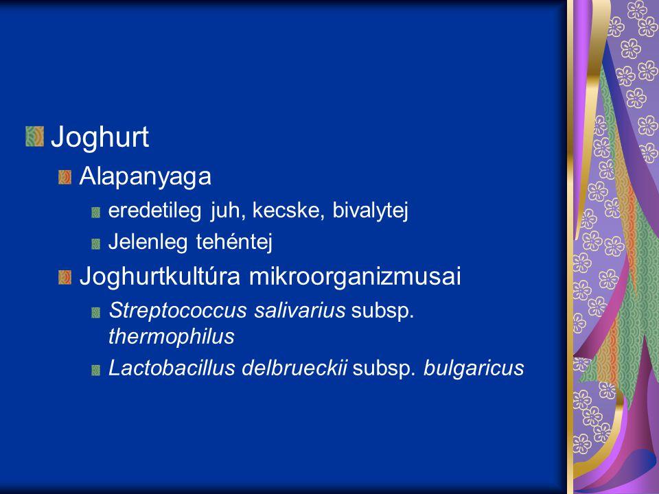 Joghurt Alapanyaga Joghurtkultúra mikroorganizmusai