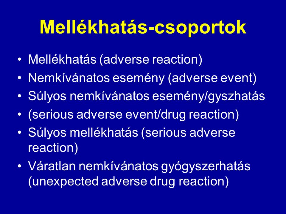 Mellékhatás-csoportok
