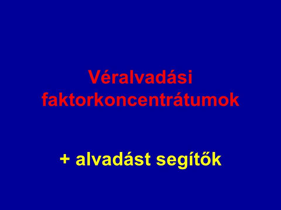 Véralvadási faktorkoncentrátumok