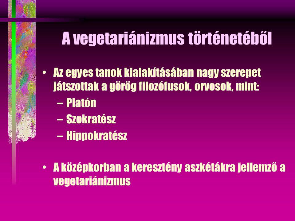A vegetariánizmus történetéből