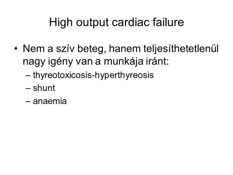 High output cardiac failure