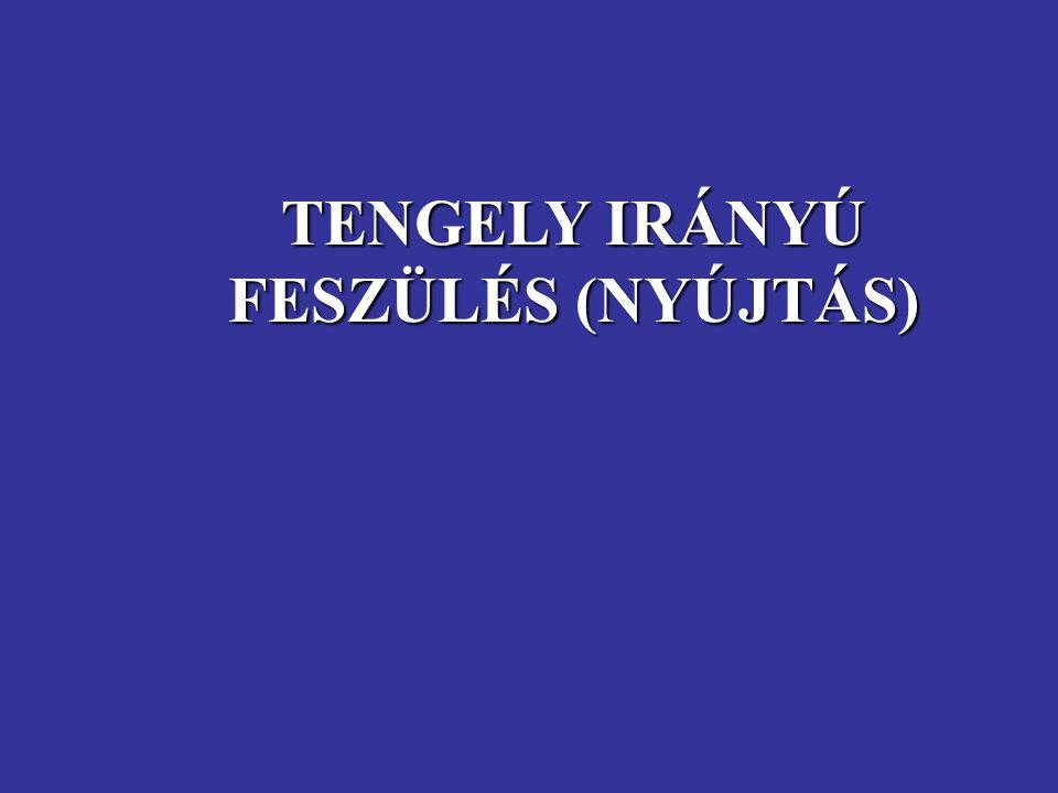 TENGELY IRÁNYÚ FESZÜLÉS (NYÚJTÁS)