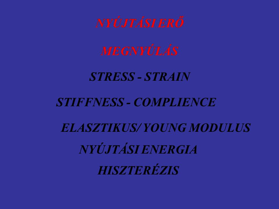 ELASZTIKUS/ YOUNG MODULUS