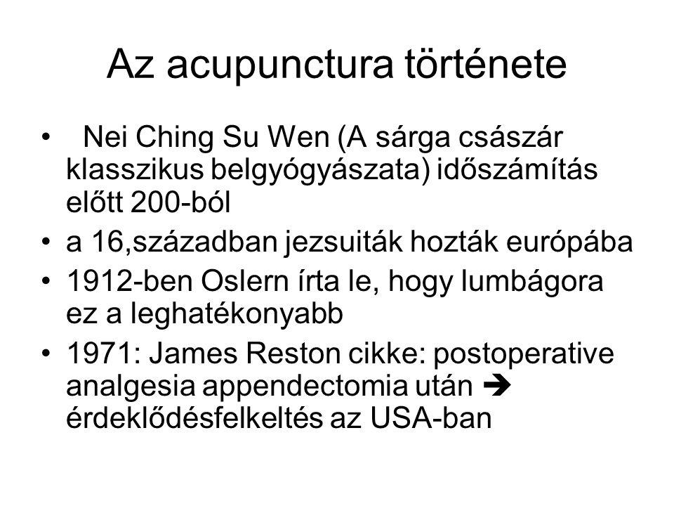 Az acupunctura története