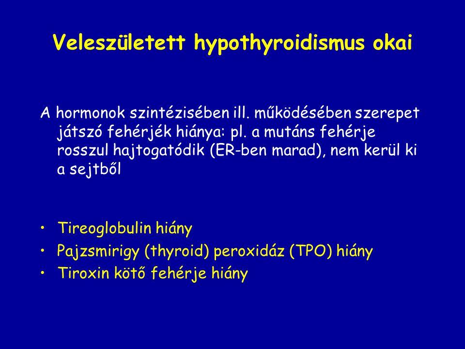 Veleszületett hypothyroidismus okai