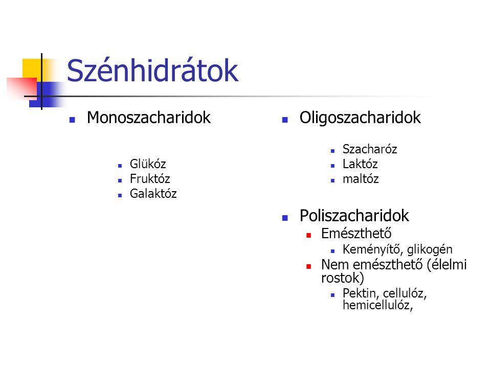Szénhidrátok Monoszacharidok Oligoszacharidok Poliszacharidok