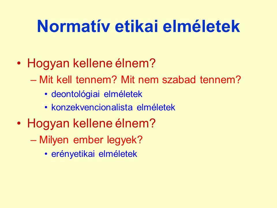 Normatív etikai elméletek