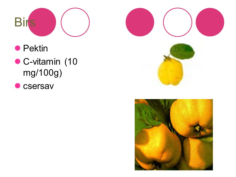 Birs Pektin C-vitamin (10 mg/100g) csersav
