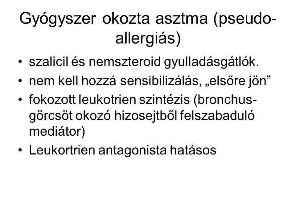 Gyógyszer okozta asztma (pseudo-allergiás)