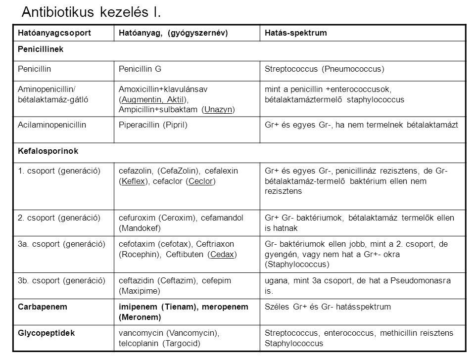 Antibiotikus kezelés I.