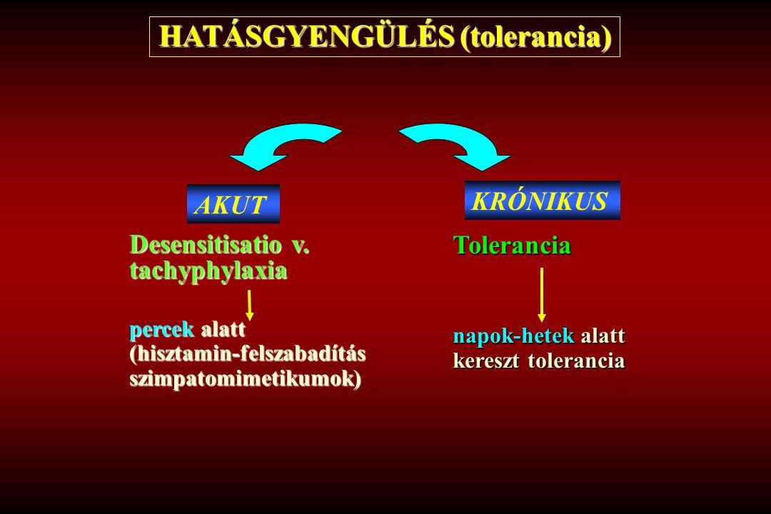HATÁSGYENGÜLÉS (tolerancia)