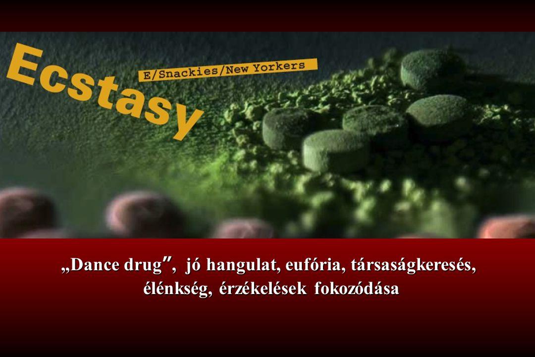 """""""Dance drug , jó hangulat, eufória, társaságkeresés,"""