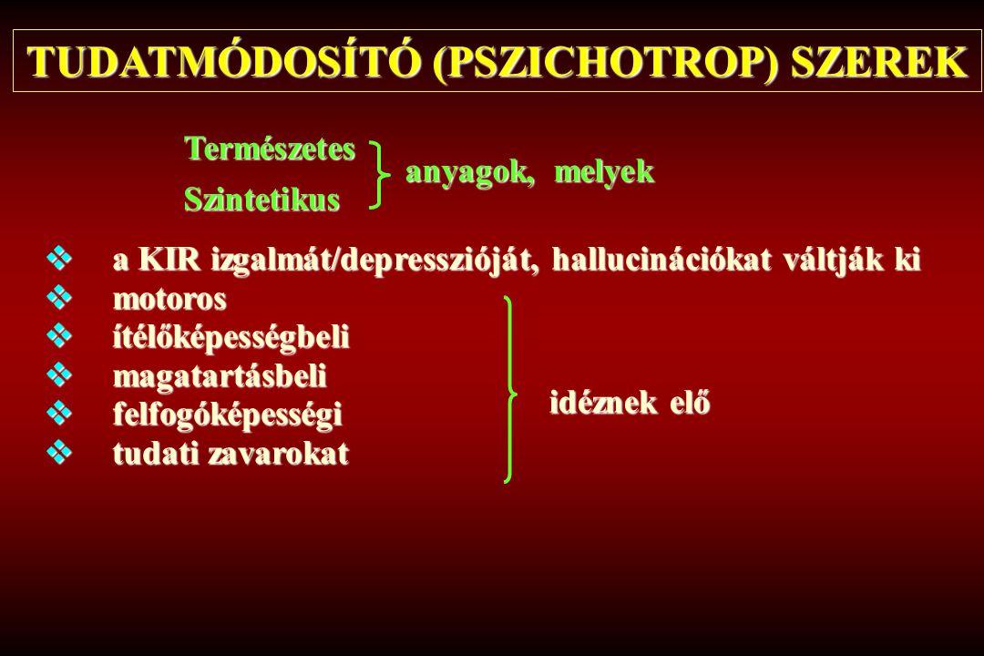 TUDATMÓDOSÍTÓ (PSZICHOTROP) SZEREK