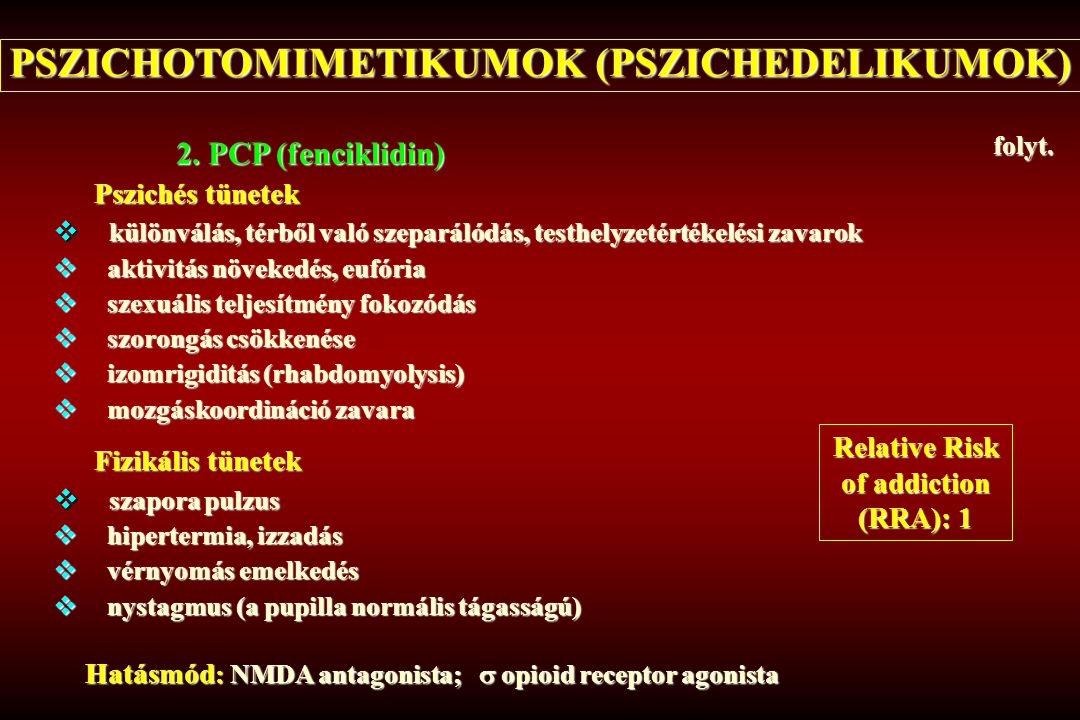 PSZICHOTOMIMETIKUMOK (PSZICHEDELIKUMOK)
