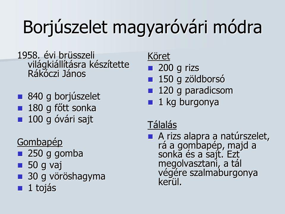 Borjúszelet magyaróvári módra