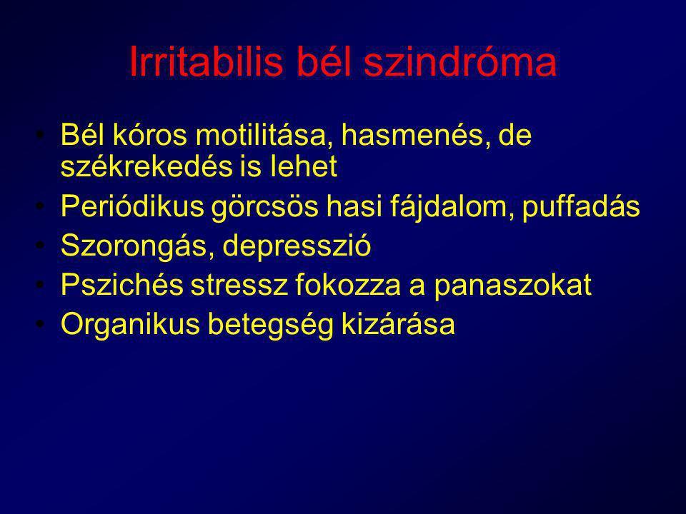 Irritabilis bél szindróma
