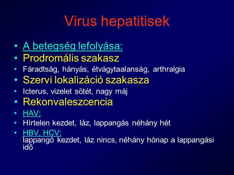 Virus hepatitisek A betegség lefolyása: Prodromális szakasz