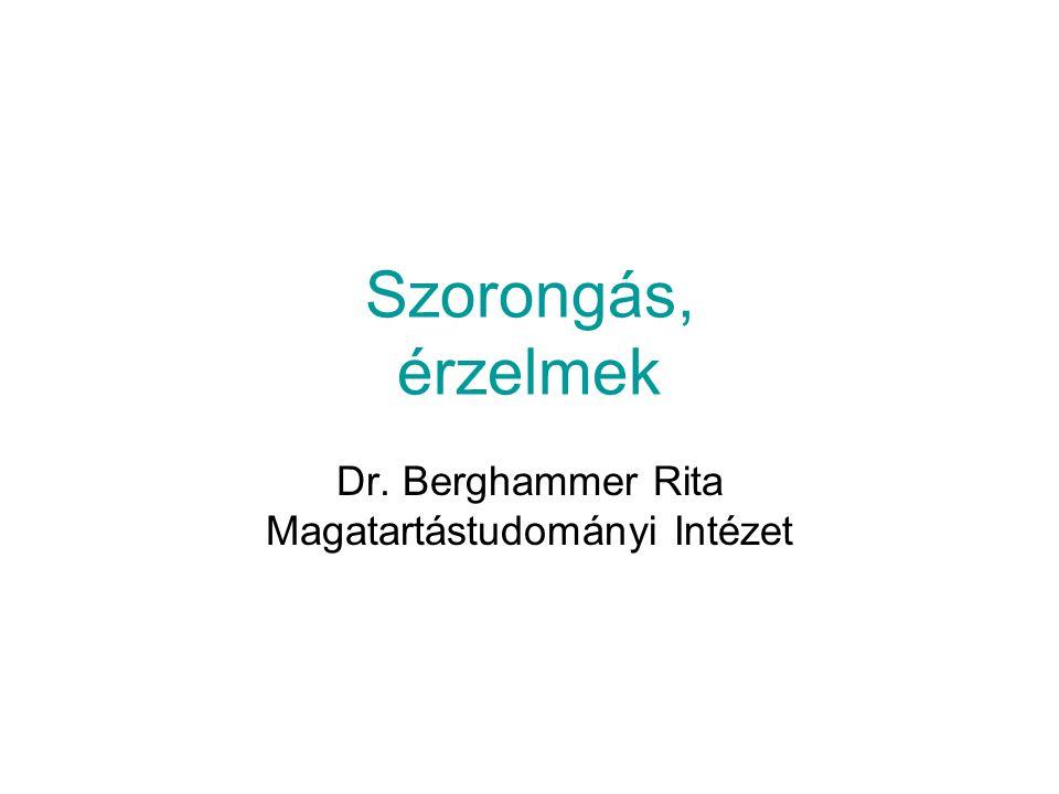Dr. Berghammer Rita Magatartástudományi Intézet