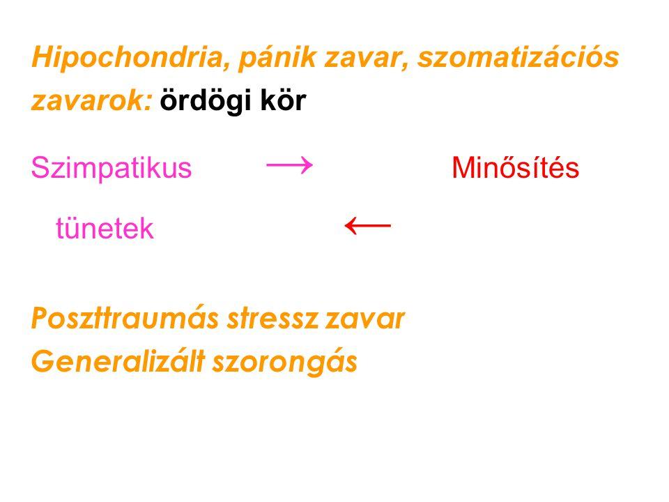 Hipochondria, pánik zavar, szomatizációs