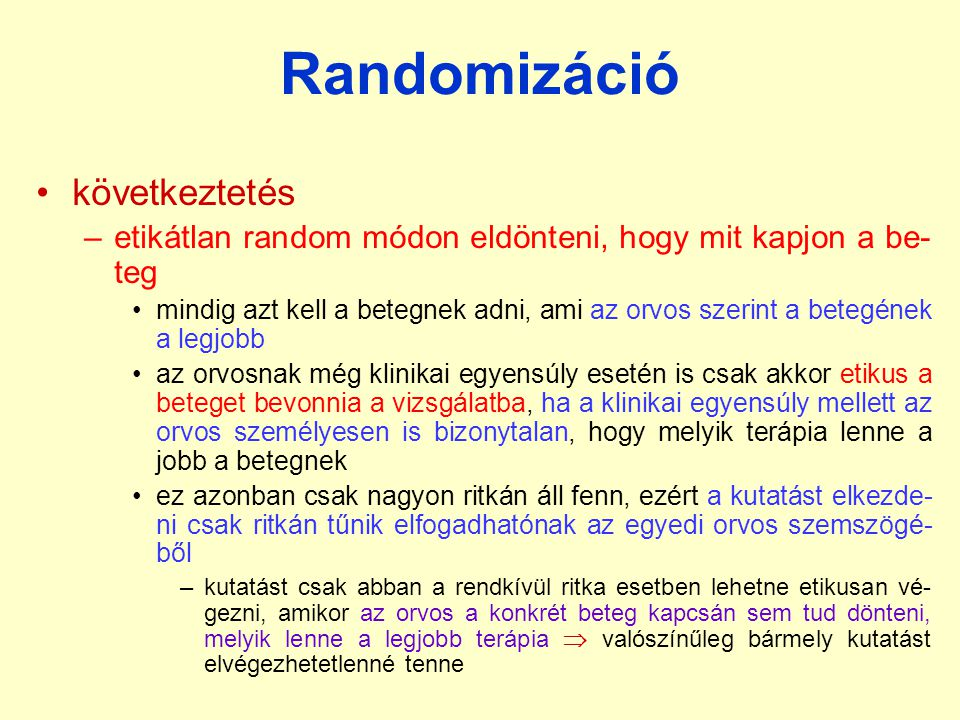 Randomizáció következtetés