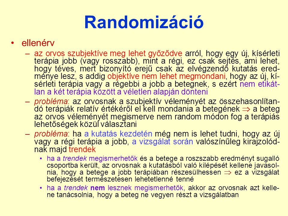 Randomizáció ellenérv