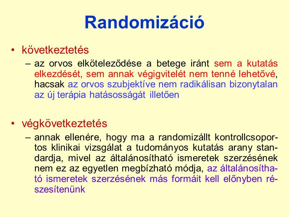 Randomizáció következtetés végkövetkeztetés