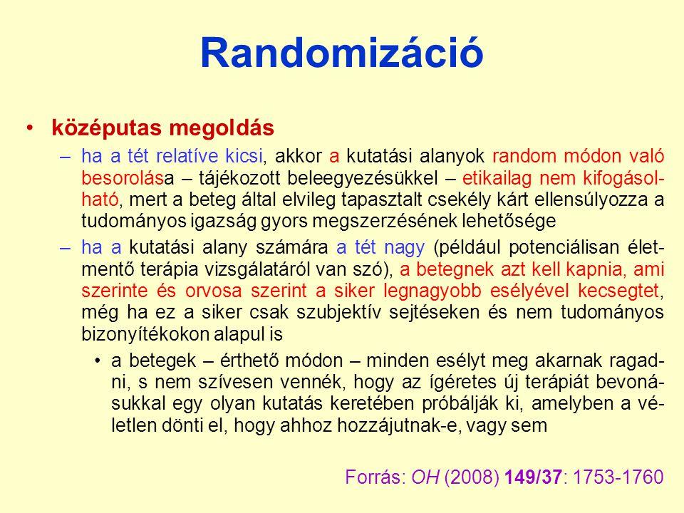 Randomizáció középutas megoldás