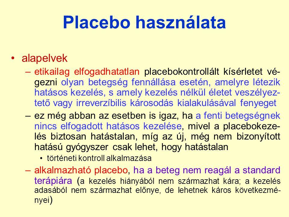 Placebo használata alapelvek