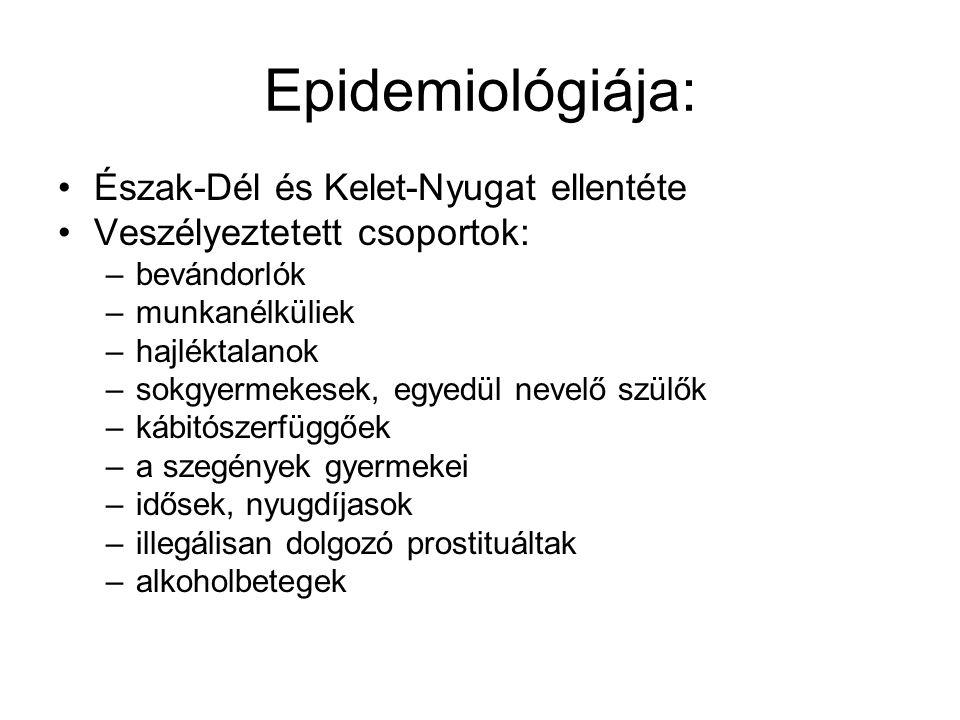 Epidemiológiája: Észak-Dél és Kelet-Nyugat ellentéte