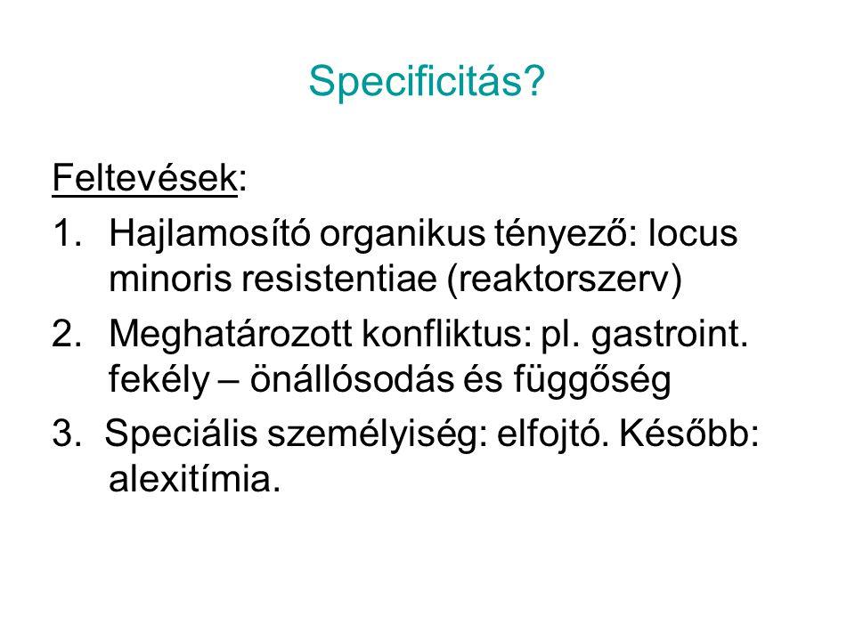 Specificitás Feltevések: