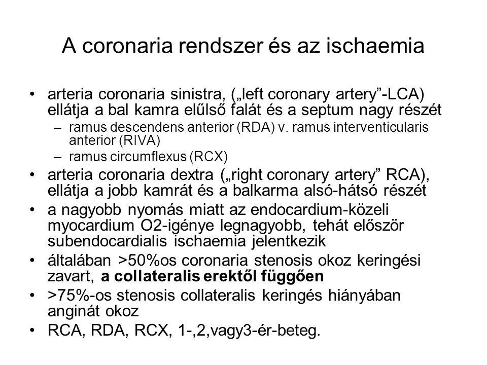 A coronaria rendszer és az ischaemia