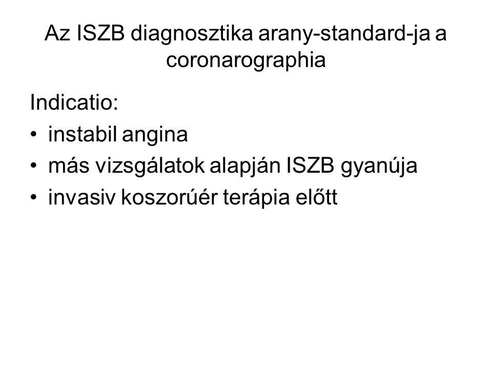 Az ISZB diagnosztika arany-standard-ja a coronarographia