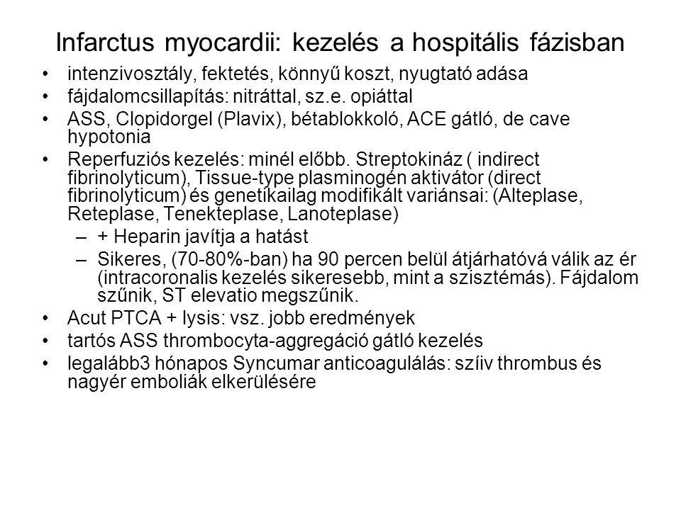 Infarctus myocardii: kezelés a hospitális fázisban