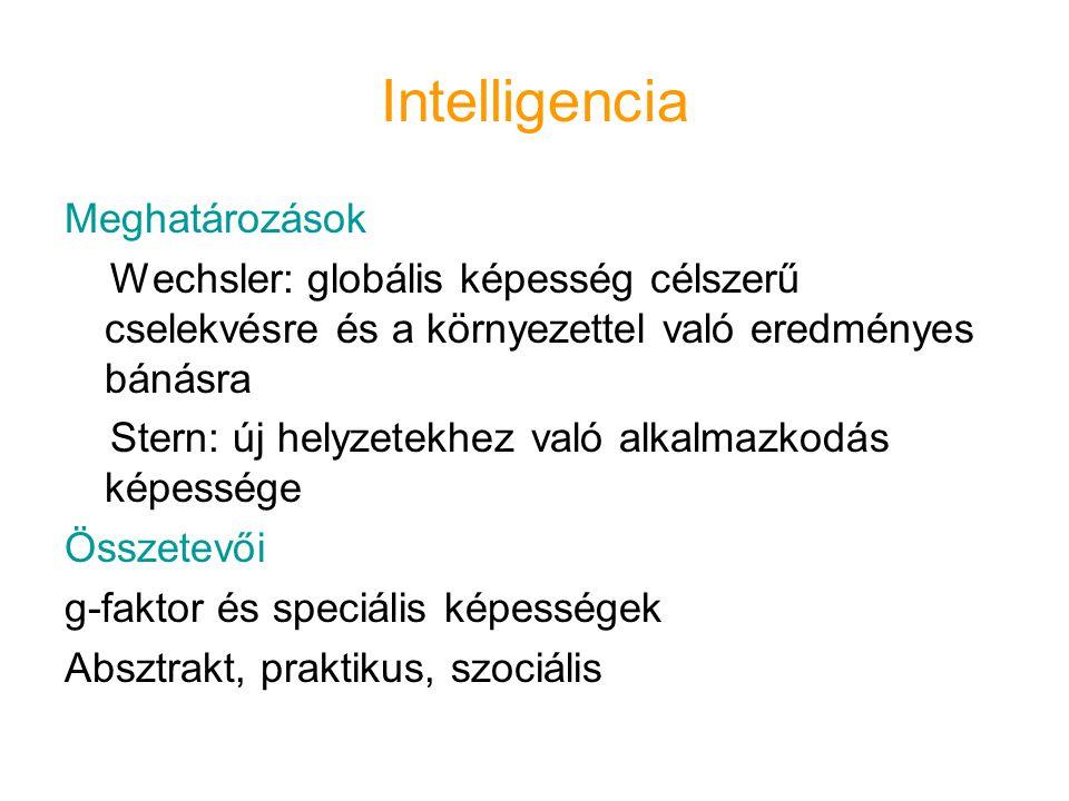 Intelligencia Meghatározások