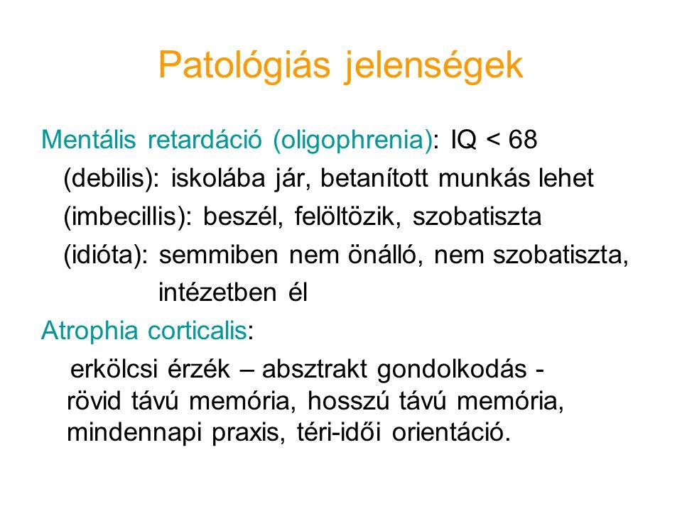 Patológiás jelenségek
