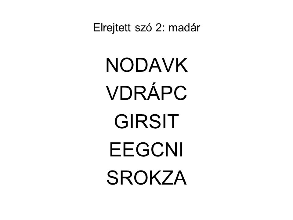 NODAVK VDRÁPC GIRSIT EEGCNI SROKZA