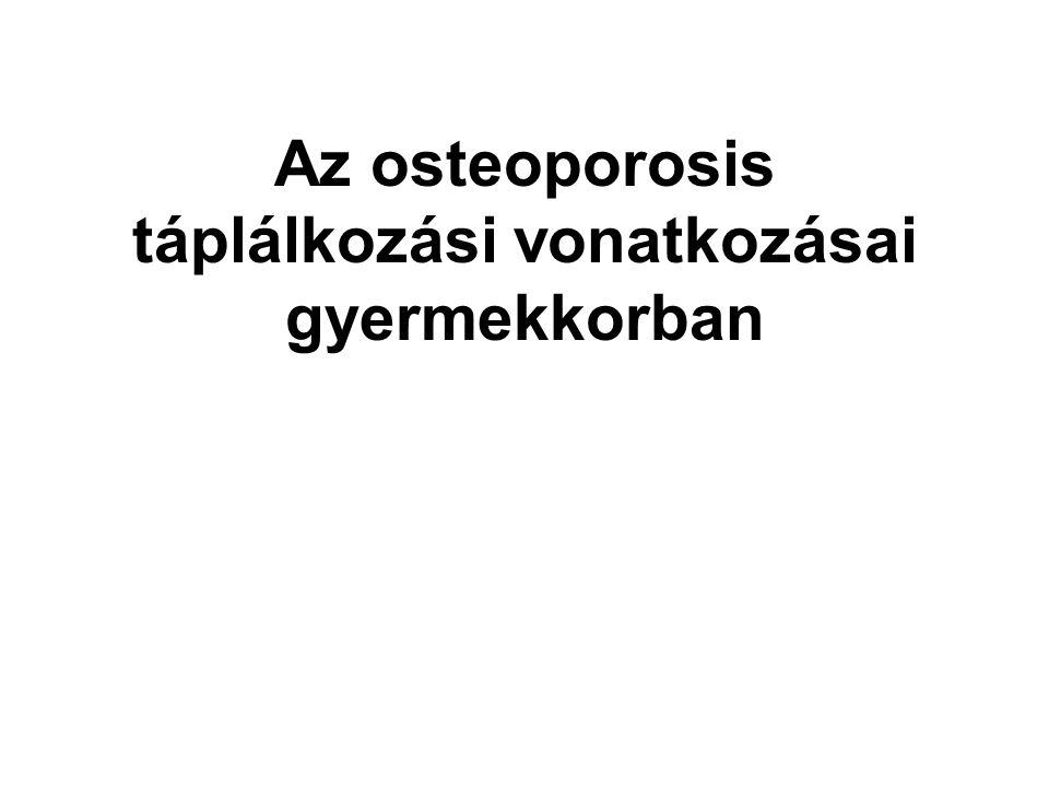 Az osteoporosis táplálkozási vonatkozásai gyermekkorban