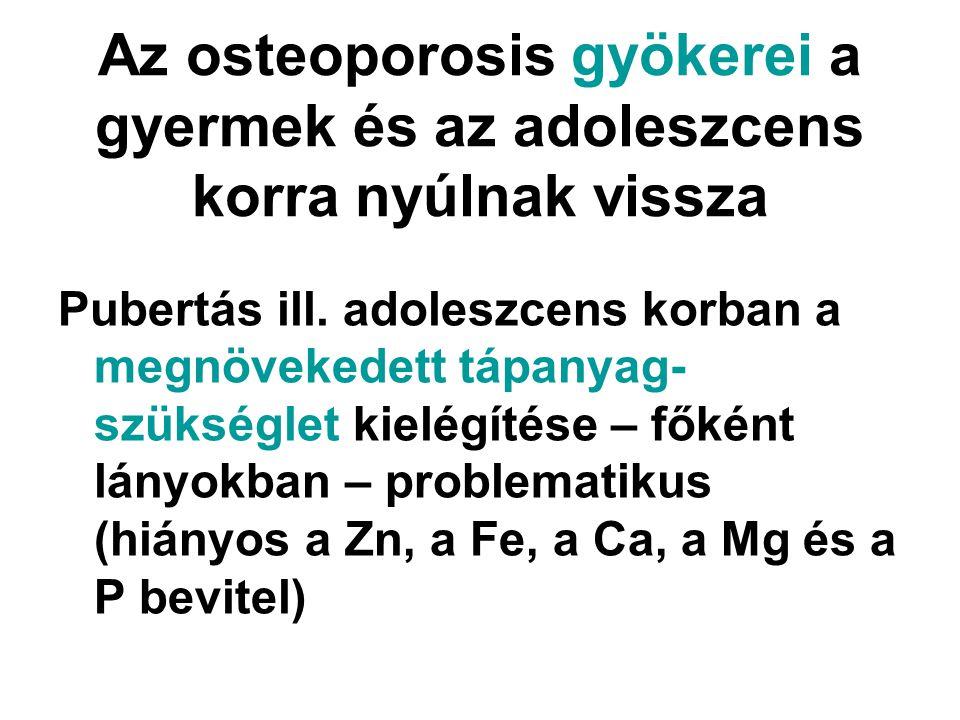 Az osteoporosis gyökerei a gyermek és az adoleszcens korra nyúlnak vissza