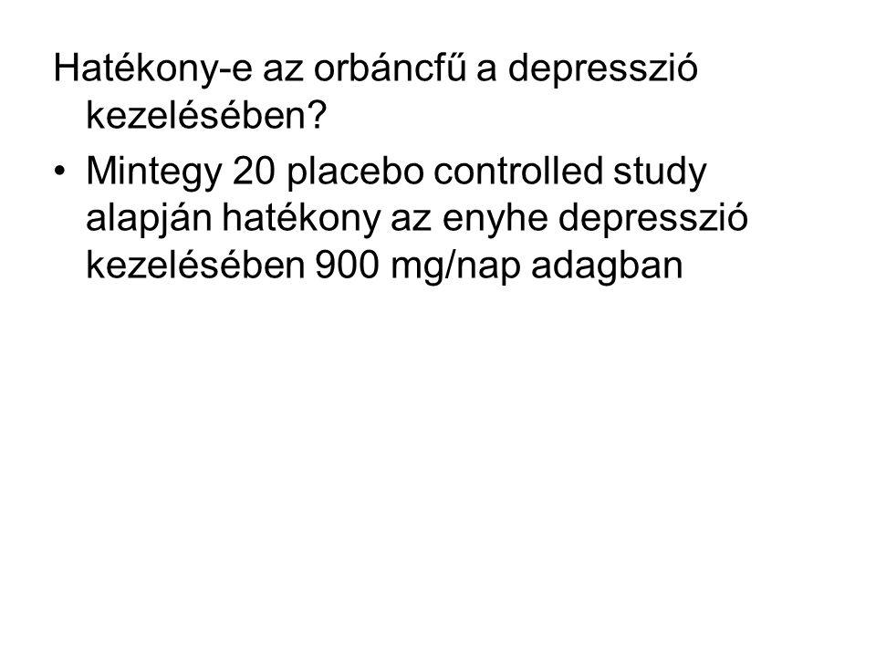 Hatékony-e az orbáncfű a depresszió kezelésében