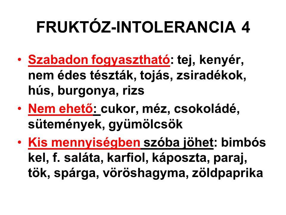 FRUKTÓZ-INTOLERANCIA 4