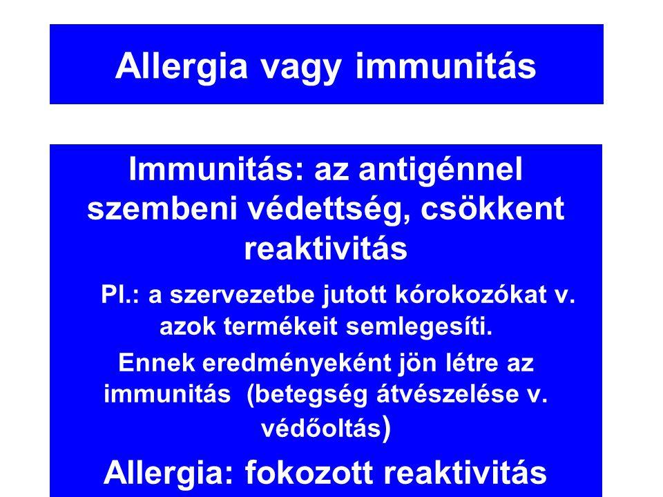 Allergia vagy immunitás