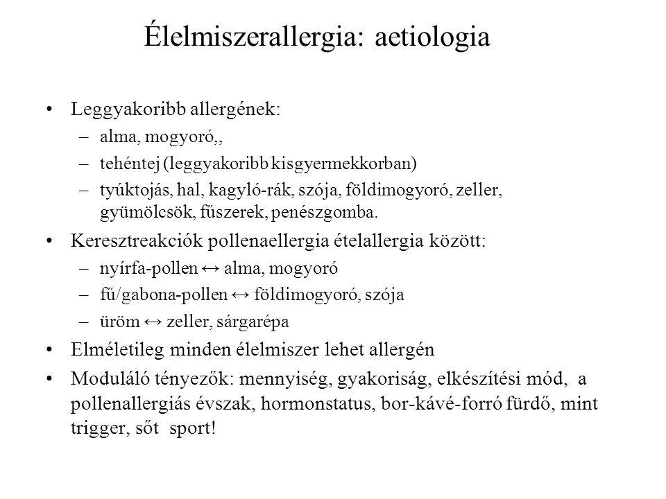 Élelmiszerallergia: aetiologia