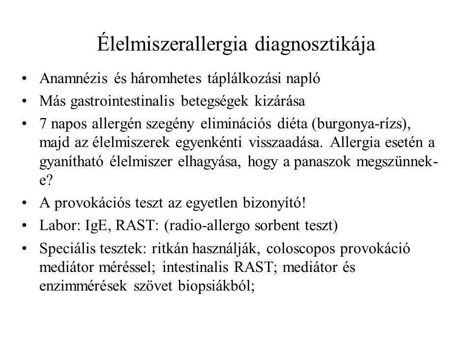 Élelmiszerallergia diagnosztikája