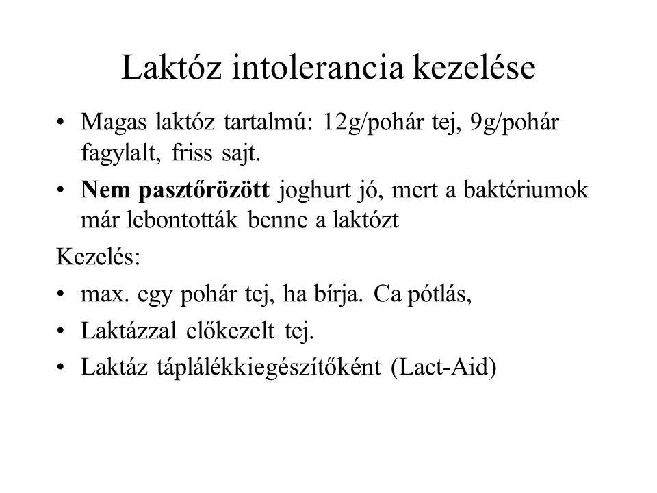Laktóz intolerancia kezelése