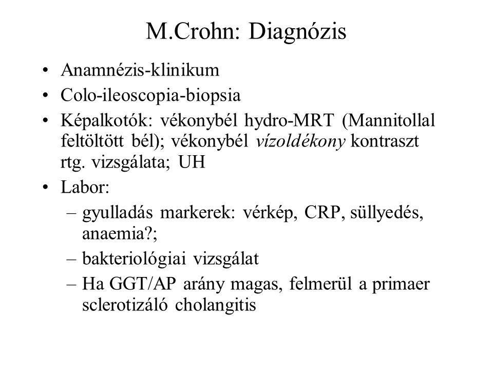 M.Crohn: Diagnózis Anamnézis-klinikum Colo-ileoscopia-biopsia